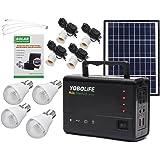 DyNamic LM-3606 110-220V 4USB Solar Panel Generator Sistema de generador solar con lámpara LEDPaneles solares