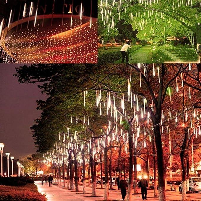 52 opinioni per Luce Natale LED Pioggia Nevicata – VICTORSTAR 50CM 10 Tubi 600 LED Due Facce di
