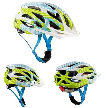 AWE® Fun™ Infantiles de bicicleta casco - Verde, blanco, azul, tamaño