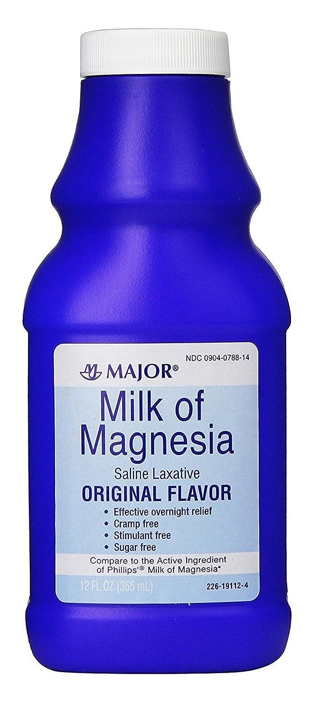Amazon.com: Major Milk of Magnesia, Original Flavor, 12 oz Bottle: Health & Personal Care