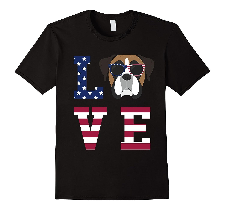 Boxer Dog Love 4th Of July T Shirt Art Artshirtee