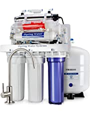 iSpring 100GPD 7-Stage Reverse Osmosis RO UV Alkaline Water Filter System with Booster Pump