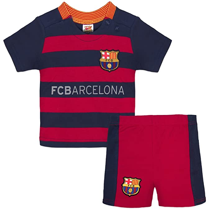 FC Barcelona Fútbol Oficial Regalo Home Kit – Camiseta de manga corta para  bebé   Pantalones 0bb05d570fe