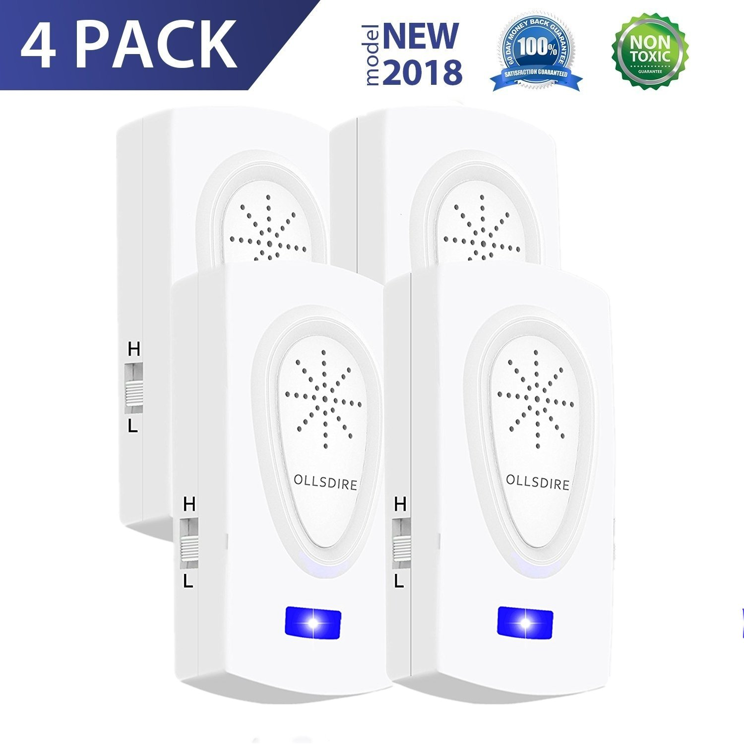 GAOAG Effective Ultrasonic Mosquito Repellent Odorless Non-Toxic Portable Pest Control Repeller Anti Insect Home/Warehouse/Garden