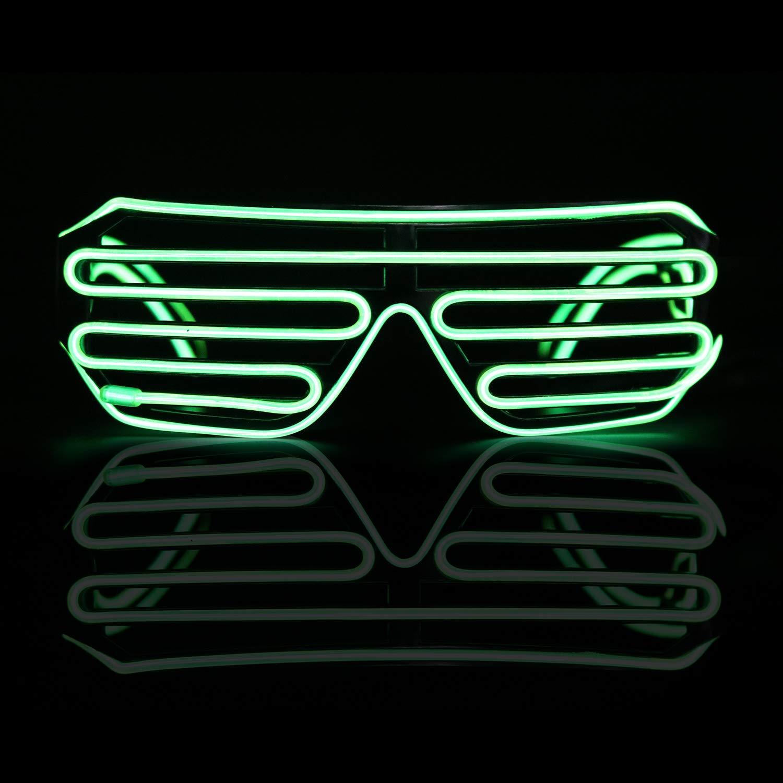 Raves Smyidel Ight Up Occhiali a LED novit/à Luminoso Occhiali Regolabile El Wire Neon for Christmas Halloween Wild Party,Dance Ball,Crazy Parties Blu 1