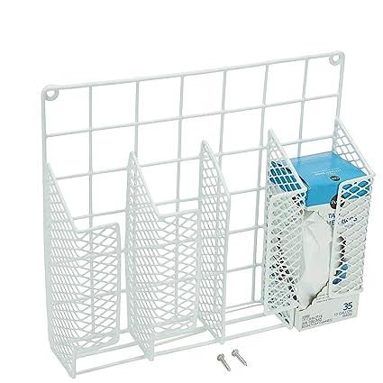 Decorrack Cabinet Door Mount Kitchen Storage Organizer Basket Wrap Organizer Rack Space Saving Drawer Grid Holder For Cleaning Supplies Bottles