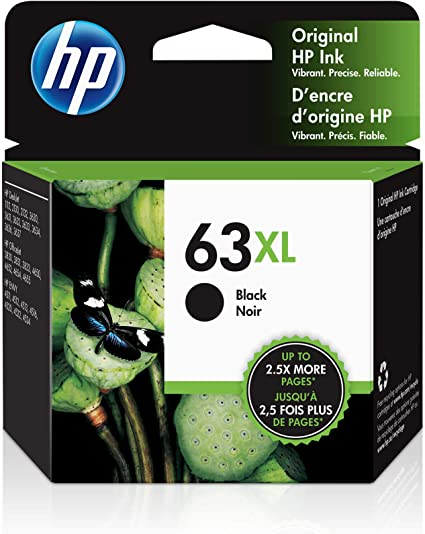 AB Volts Remanufactured Ink Cartridge Replacement for HP 63XL F6U64AN /& F6U63AN for OfficeJet 5255 5258 4650 3830 3831 3832 3833 3834 4652 4654 Black Color,2-Pack
