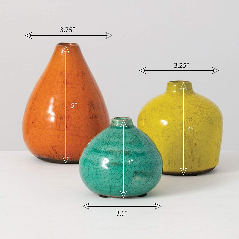 Set of 3 Various Sizes CM2219 Sullivans Small Ceramic Vase Set