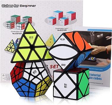 ROXENDA Speed Cube Set, Cubos de Velocidad de Pirámide Megaminx Skew Ivy con Caja de Regalo, Tutorial Secreto para Speed Cubes: Amazon.es: Juguetes y juegos