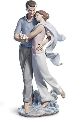 LLADR You re Everything to Me Couple Figurine. Porcelain Bride and Groom Figure.