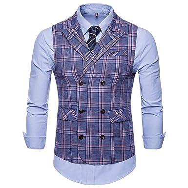 Cheyuan Hommes Costume Formel Gilet Nouvelle Mode rayé Affaires Gilet Hommes  Mariage sans Manches Gilet Robe  Amazon.fr  Vêtements et accessoires b57476447194