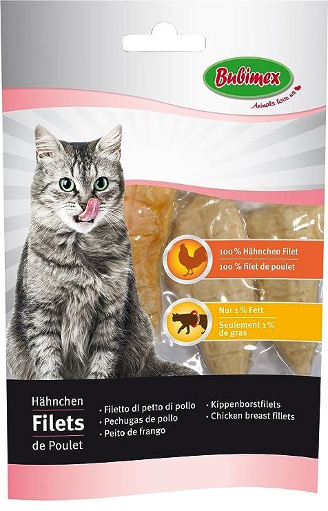 Bubimex Redes de Pollo Friandise para Gato 70 g – Lote de 5