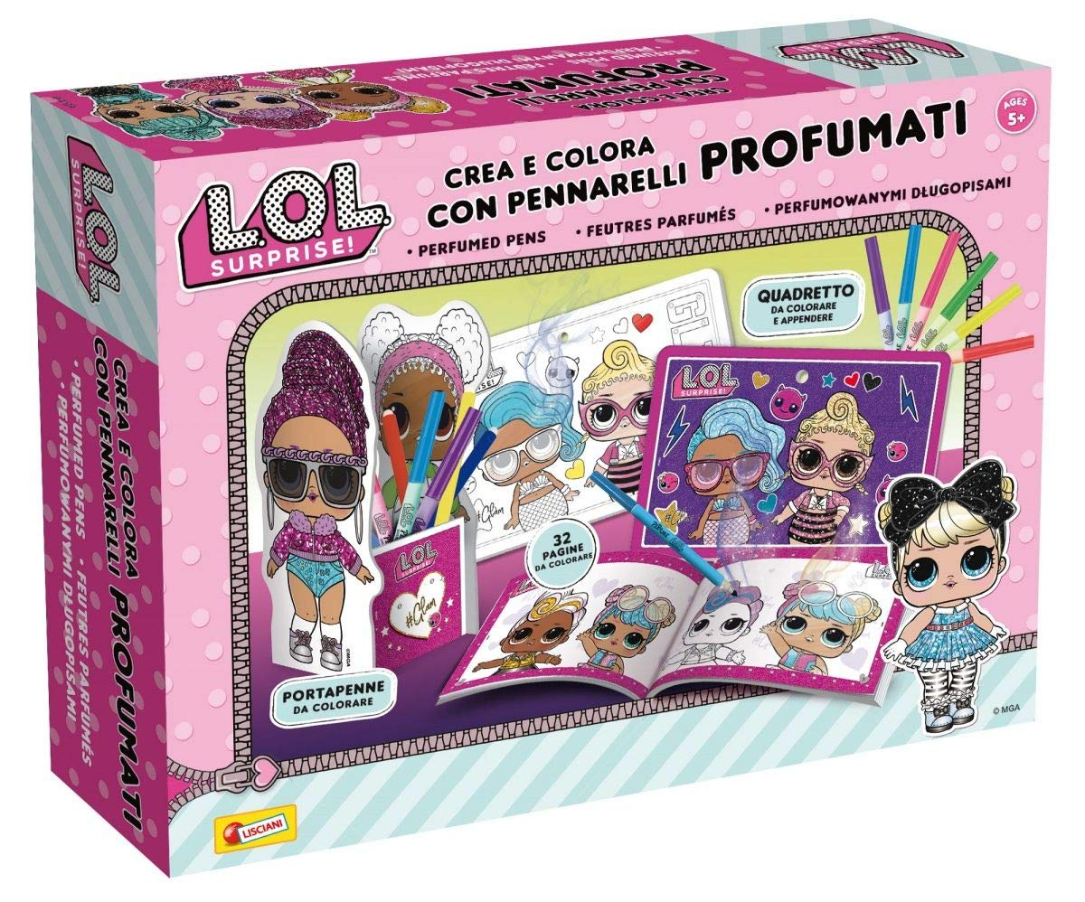 Lisciani Giochi Lol Surprise Crea E Colora Con Pennarelli
