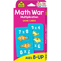 School Zone - Math War Multiplication Game Cards - Ages 8+, 3rd Grade, 4th Grade, 5th Grade, Math Games, Beginning…