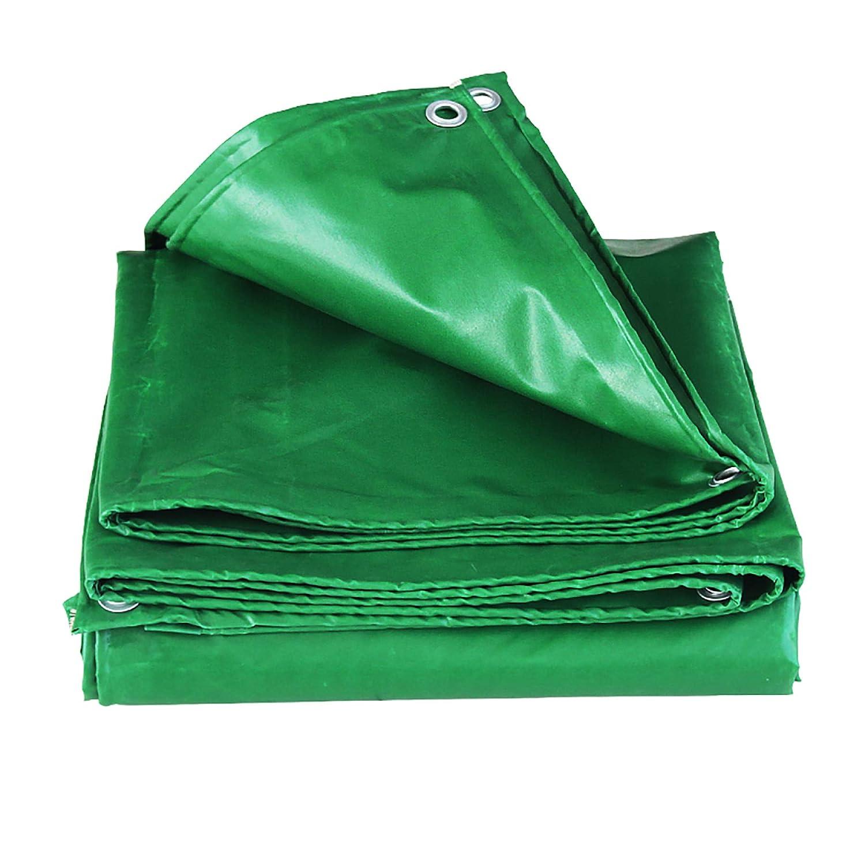 HSBAIS 防水シート防水カバー、防水地上テントトレーラーカバー、多目的 PVCゴム製防水シート、ボタンホール,Green_4x8m B07PCHP3HJ Green 4x8m