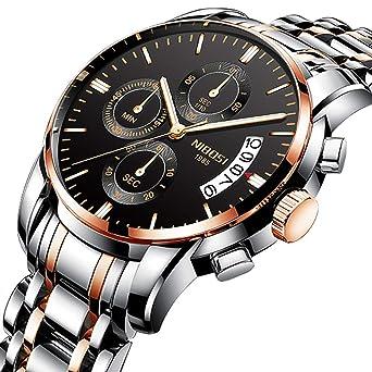 Watch for Men Waterproof Stainless Steel Sport Analog Quartz Watch Gents Fashion Dress Wrist Watch