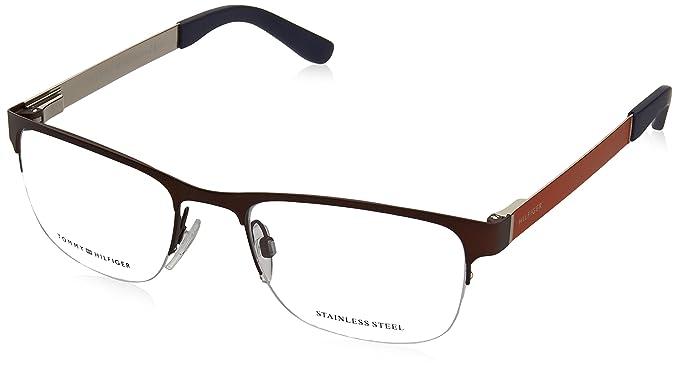 d7566b6719 TOMMY HILFIGER Eyeglasses 1324 00FY Brown Orange 52MM at Amazon ...