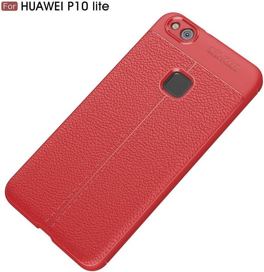 MHHQ Huawei Mate 10 Pro Custodia Navy Huawei Mate 10 Pro Cover Custodia Sottile e Morbida Protettiva in Litchi Texture Silicone TPU per Huawei Mate 10 Pro