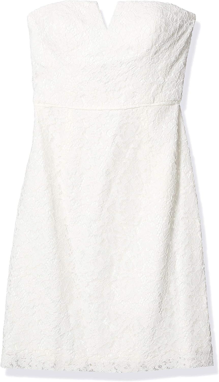 Donna Morgan Womens Quinn Short Strapless Lace Dress