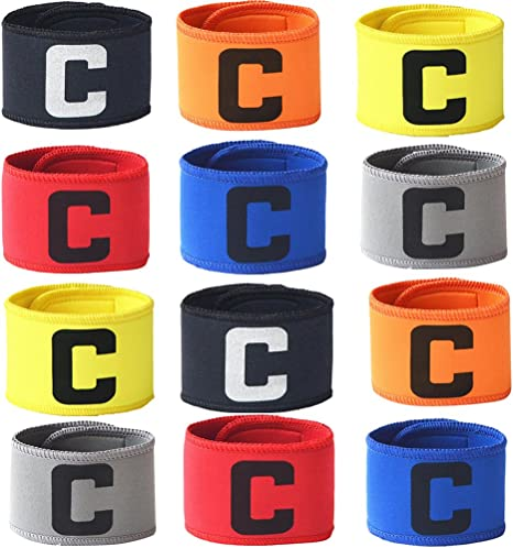 Zaptex 12-Packs fútbol fútbol de brazaletes elástico capitán Brazalete Ajustable de Baloncesto Reproductor Bandas, Mix: Amazon.es: Deportes y aire libre