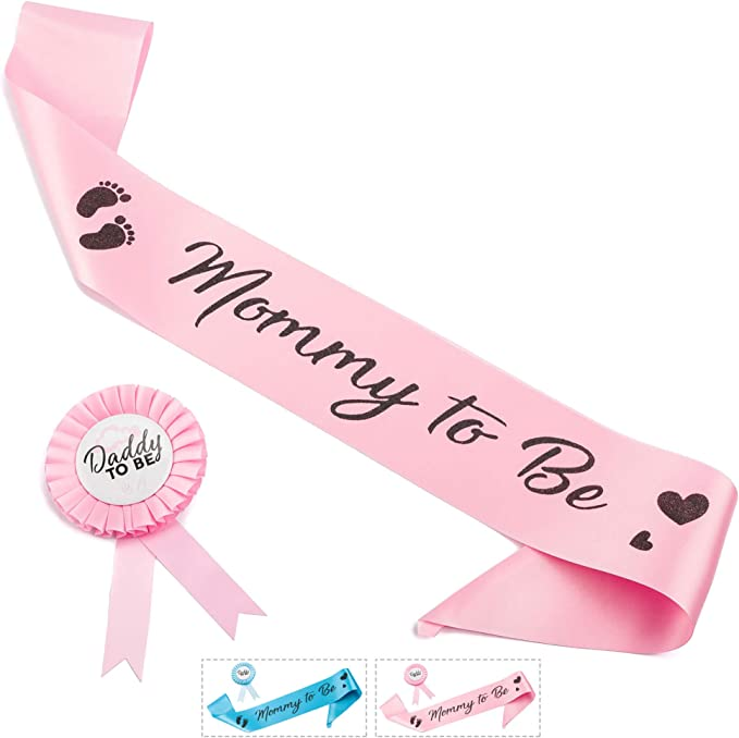 Grandma To Be Daddy to be pin Pink Baby Girl Shower Corsage DTB PINK dots GOLD pAPER baby shower favors