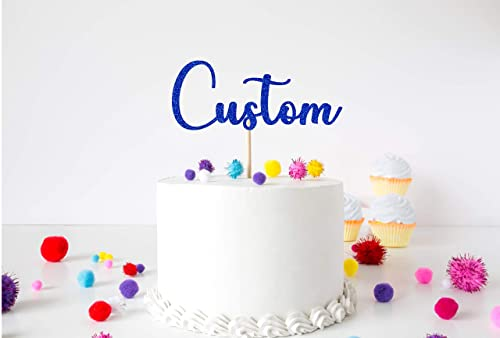 Tremendous Cake Topper Choose Your Text Party Celebration Personalised Personalised Birthday Cards Veneteletsinfo