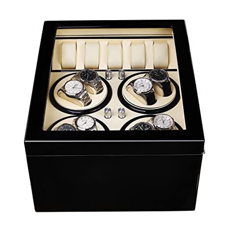 jianbo 8 + 5 Watch Winder Reloj AutomáTico Expositor Rotador Para Relojes De RotacióN Del Motor