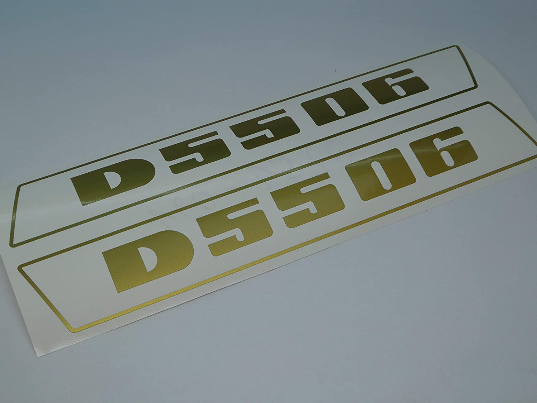 Deutz D5506 Aufkleber gold  Logo Emblem Sticker Label