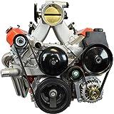 LS Camaro Alternator Bracket Low Mount and Power Steering Pump Bracket LSX LS1 LS6 Billet, 551669-2