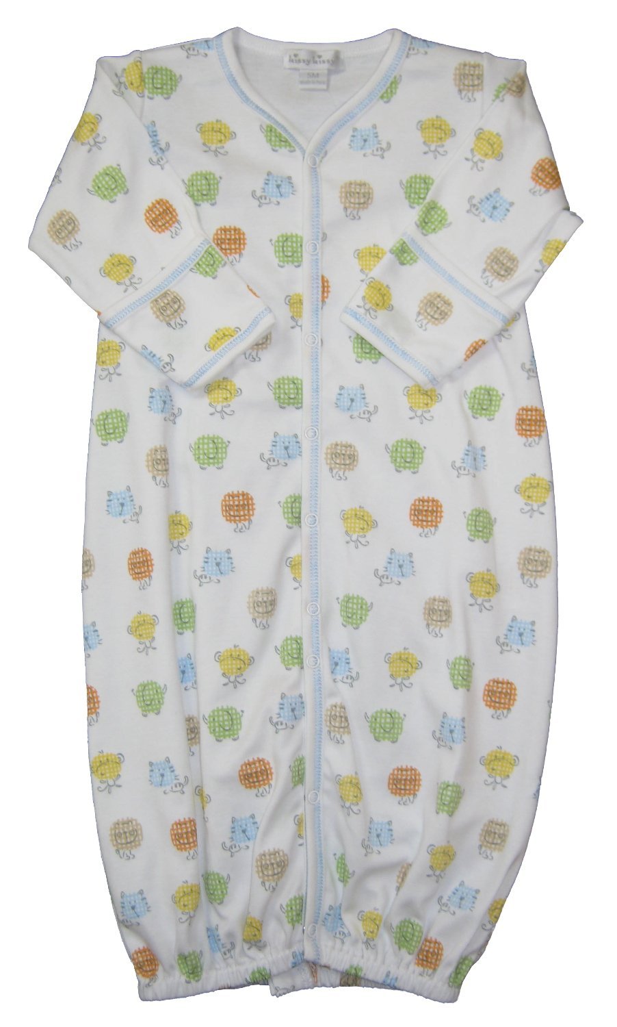 Kissy Kissy Baby-Girls Infant Safari Smiles Print Convertible Gown