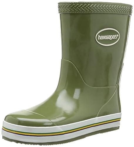 Havaianas Aqua Kids Rain Boots, Unisex-Kinder Gummistiefel, Grau 4028, 26 EU