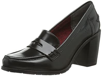 wholesale dealer 149dc 4f05a Marc O'Polo Mid Heel Loafer, Womens Court Shoes, Black ...