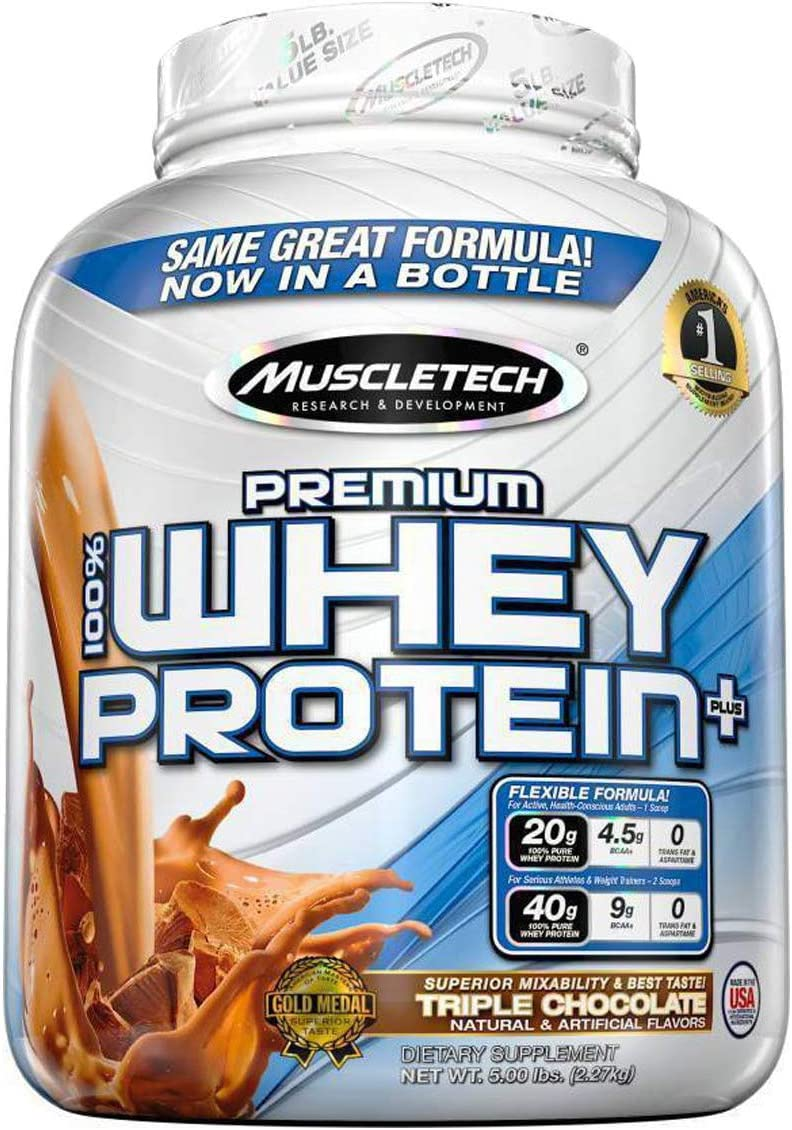 MuscleTech Premium 100 Whey Protein, Chocolate 5 lbs.
