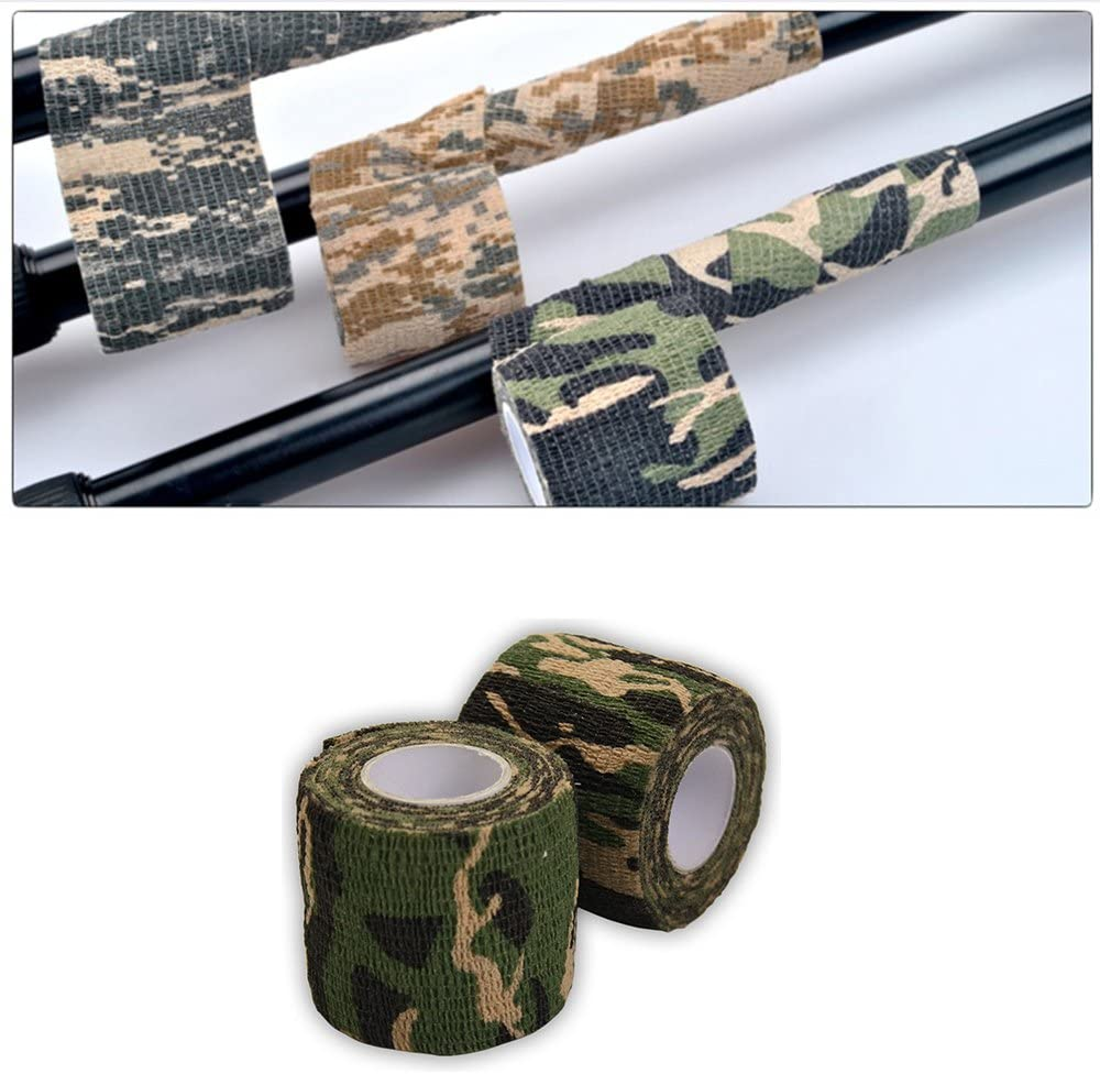 Trifycore 2 PCS Creative Camouflage Tapes Self-Adhesive Non-Woven Outdoor Camo Pattern Tapes Camo Tapes