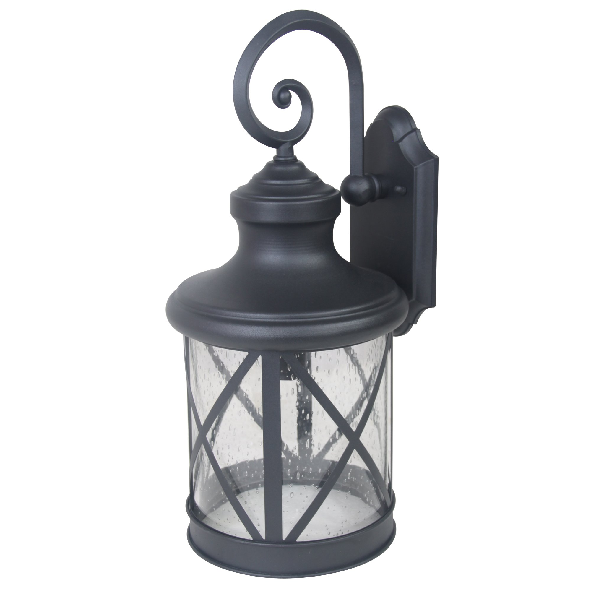 Yosemite Home Décor 5041BL-L Mahony Collection 10-Inch Incandescent Exterior, Black by Yosemite Home Decor