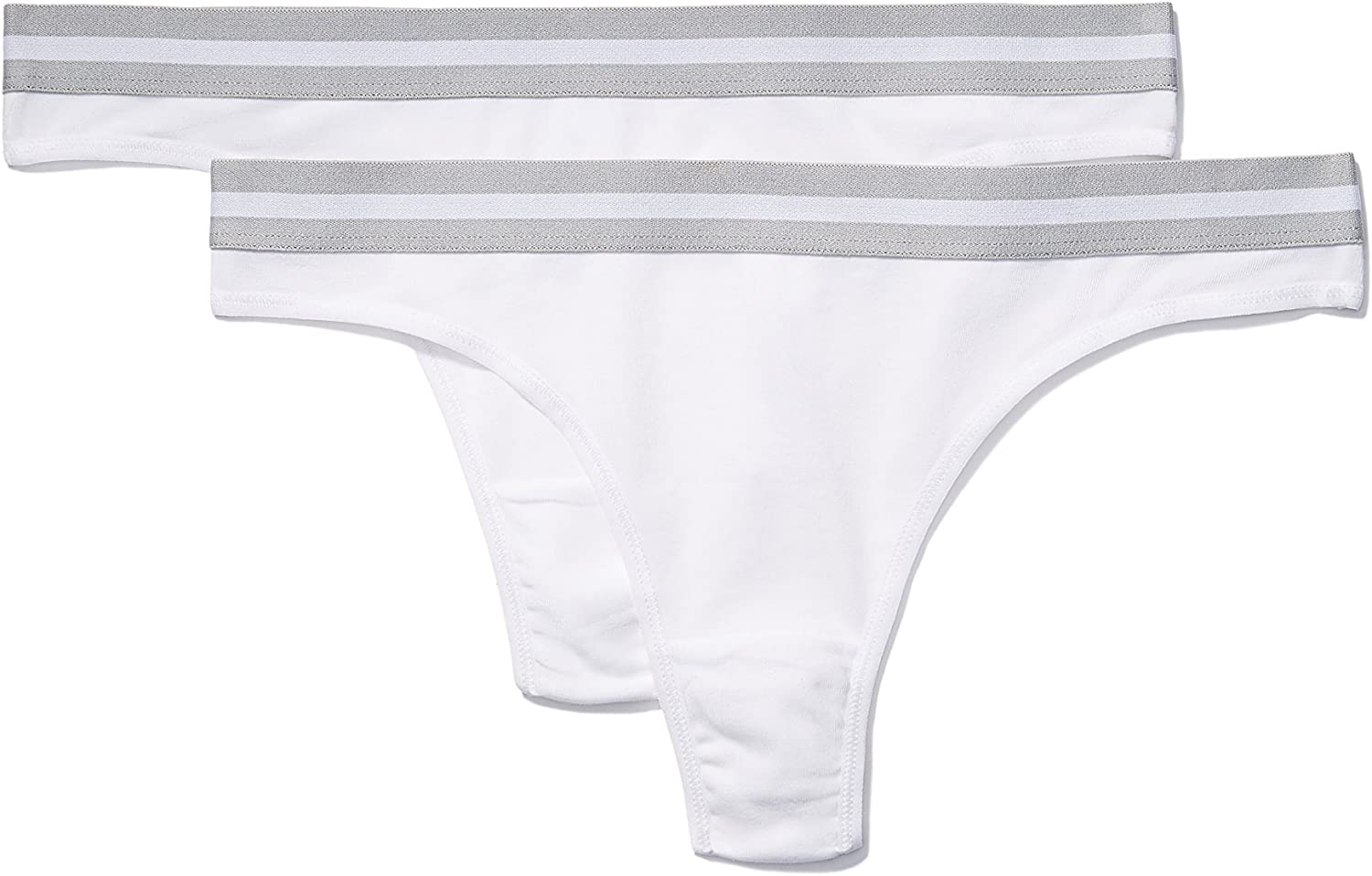 Iris /& Lilly Womens Sporty Cotton Thong Pack of 2 Brand
