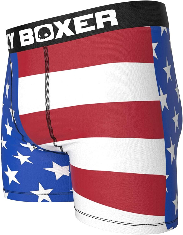 Kalan LP Crazy Boxers Mens Popeye American Flag Boxer Brief