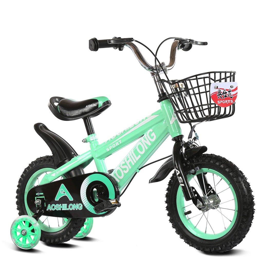 美しい 家チャイルドフォールド自転車3-6-8歳のベビーベビーカー12インチ14インチ16インチ18インチの自転車 (色 : 緑, サイズ さいず : 16Inch) B07CXGZ136 16Inch|緑 緑 16Inch