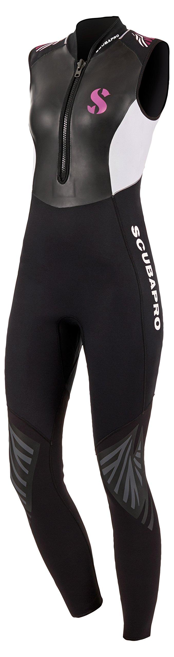 Scubapro Hybrid Steamer Front Zip 3mm Womens Sleeveless Wetsuit - Black/White - Medium