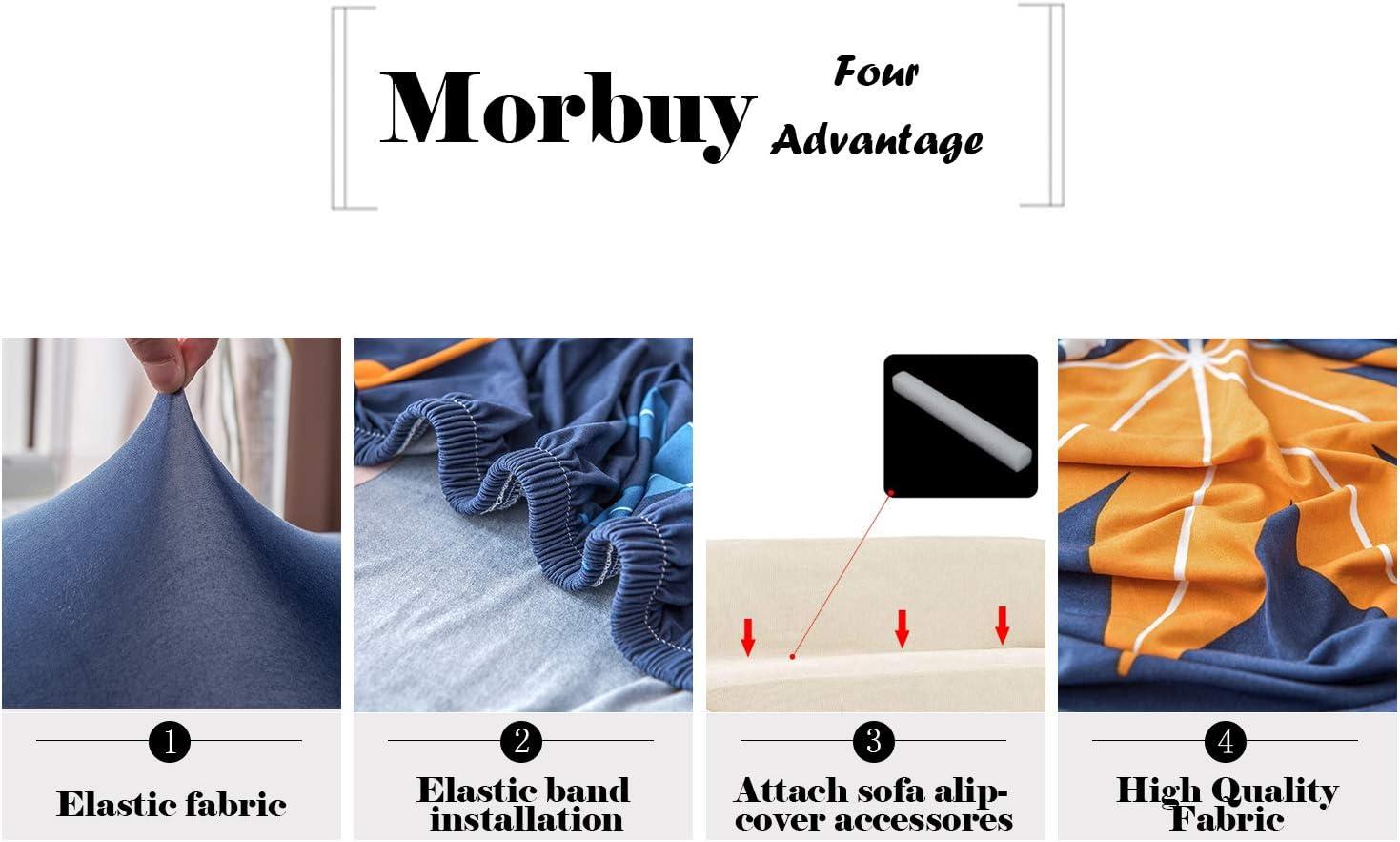Housses de Canap/é Imprim/é Extensible 1 Place,Beige Morbuy Nordique Rev/êtement de Canap/é avec accoudoirs Sofa Elastique Couverture Protecteur Fauteuil