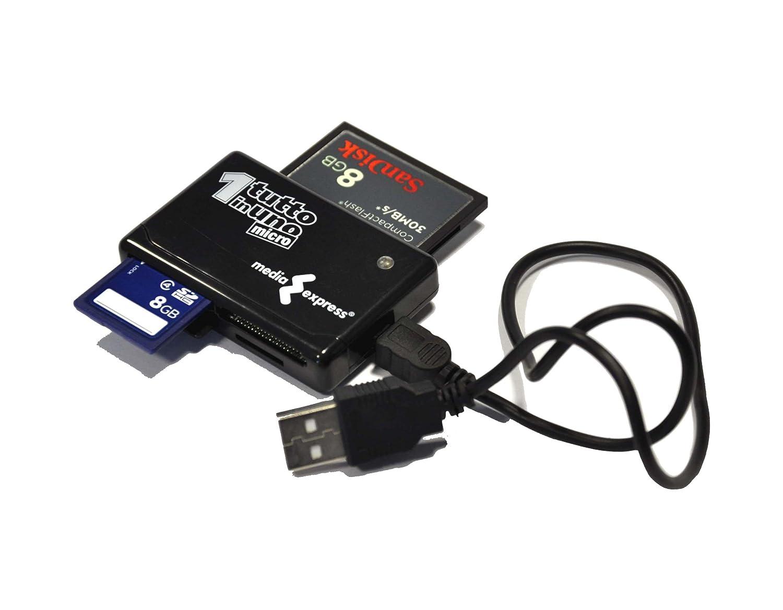 Media Express - Lector y grabador de tarjetas de memoria (USB 2.0) MINI-FOA
