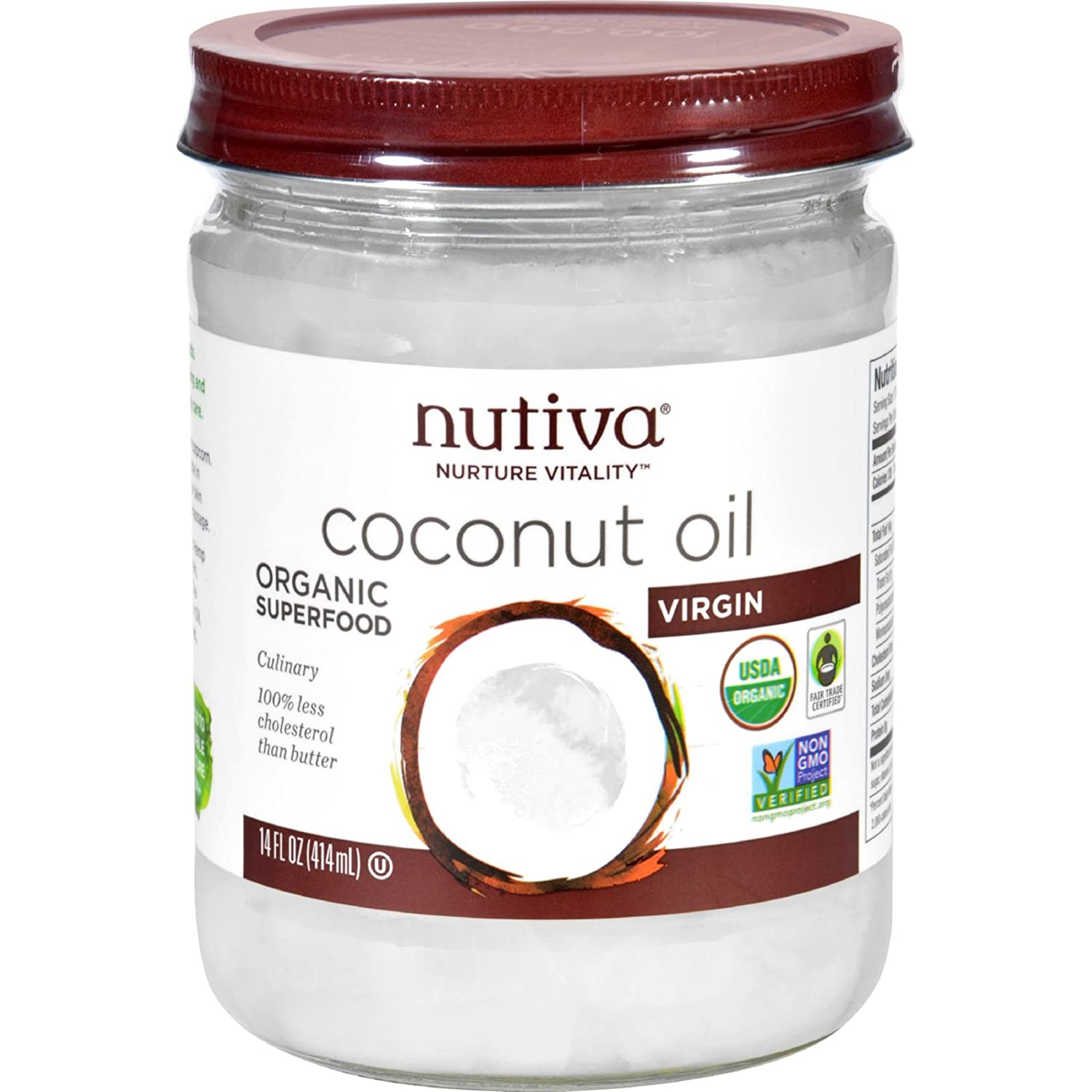 Nutiva Coconut Oil, 14 Ounce