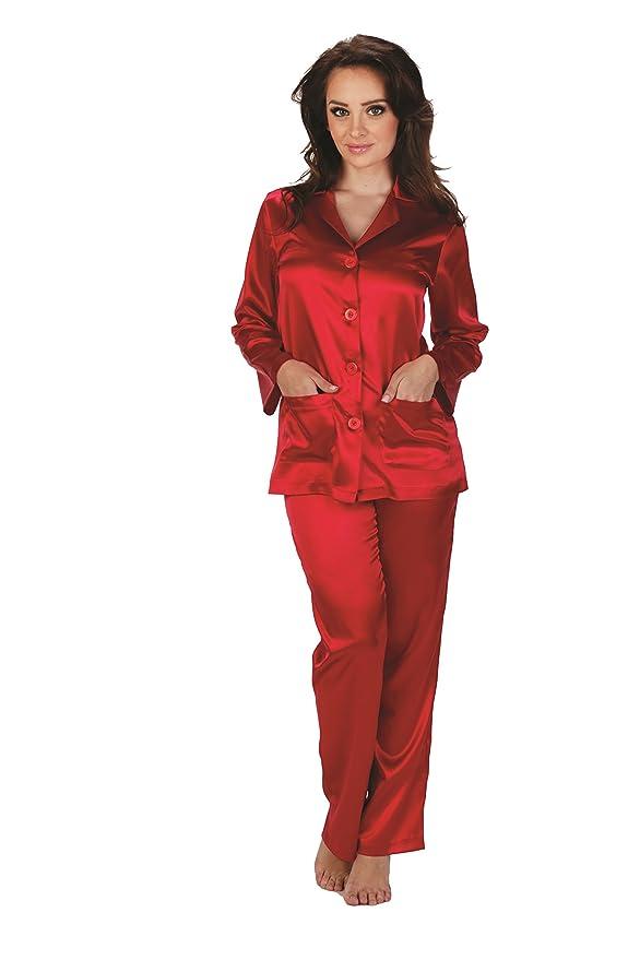 Forex Lingerie - Elegante pijama de satén, estilo clásico: Amazon.es: Ropa y accesorios