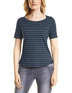 312225, T-Shirt Femme, Bleu (Deep Blue Melange 10157), SCecil