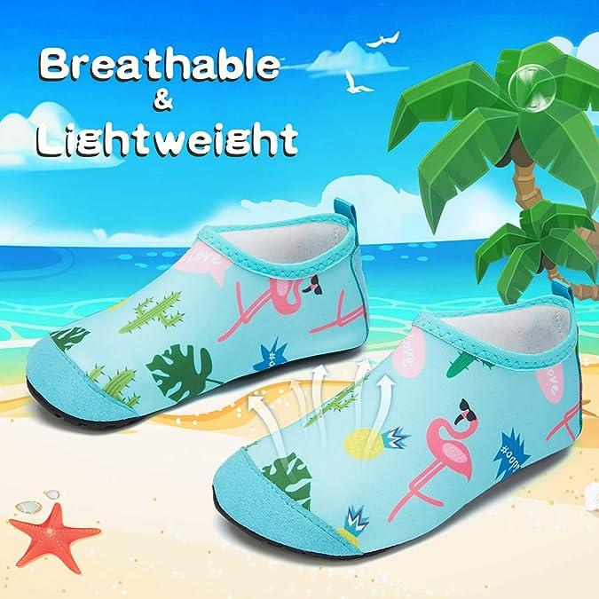 Mabove Chaussures Aquatiques Enfants Gar/çons Filles Chaussures deau B/éb/é pour Plage Piscine Nager