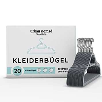 Kleiderbugel Set Samt 20 Premium Bugel Fur Kleidung Platzsparend
