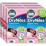 Huggies DryNites Pyjama Pants for Girls, Age 4-7 -(2 Pack of 3 x 10)-  60 Pants Total