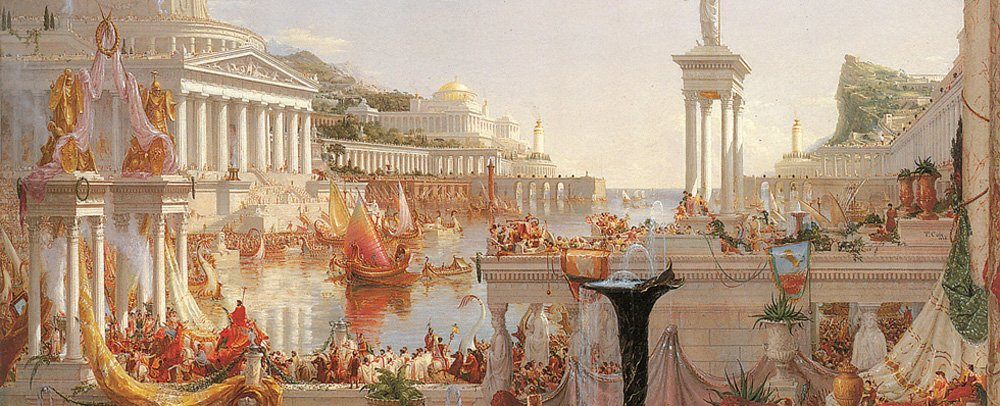Art The Consumation of Empire Sport Silver Lamp Thomas Cole The Course of Empire