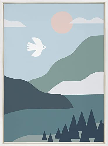 Kate and Laurel Sylvie Nordic Landscape Framed Canvas Wall Art