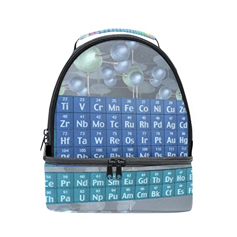 DEYYA Atomic Elements Periodic Table Insulated Lunch Bag Reusable  Multifunctional Cooler And Warm Keeping Lunch Box 96505f0a18c